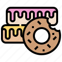 donut, doughnuts, frosted, glazed, sweet icon