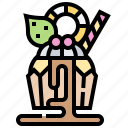 cupcake, decorated, fluffy, party, patisserie icon