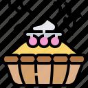 baked, cream, crumble, fruit, pie icon