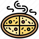 cheese, crisp, party, pepperoni, pizza icon