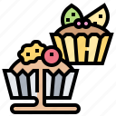 berry, cream, cupcake, pie, tarts