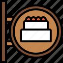 bakery, baked, dessert, shop, cake