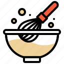 bakery, baked, whisk, beaten, bowl, pastry