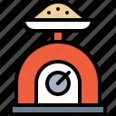 flour, weight scale, cooking, utensil, kitchen