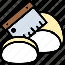 bakery, baked, flour, bread, dough, cutter, cutting