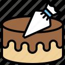 bakery, squeeze bag, icing syringe, cake, cream, decorating, piping