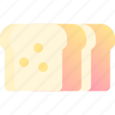 bake, bakery, bread, dough, wheat icon