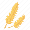 cartoon, corn, farm, flour, spica, spike, wheat icon