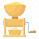 beef, butcher, cartoon, food, kitchen, meat grinder, mincer icon
