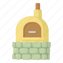 brick, cartoon, fire, firewood, oven, pizza, wood icon