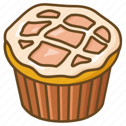 apple, cake, confectionary, dessert, icing, muffin, pie icon