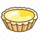 bakery, caramel, custard, dessert, egg, tart icon