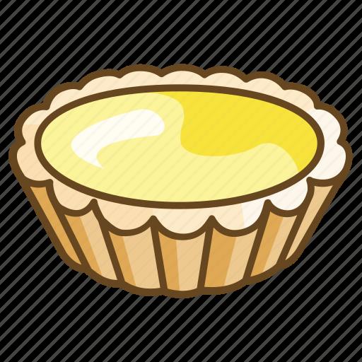 Bakery, caramel, custard, dessert, egg, tart icon