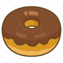 bakery, chocolate, dessert, donut, doughnut, fried, glazed icon