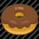 bakery, chocolate, dessert, donut, doughnut, fried, glazed