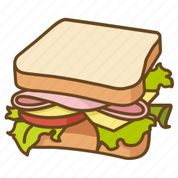 blt, ham, lunch, salad, sandwich icon