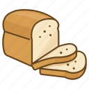 bake, bakery, bread, grain, loaf, organic, wholemeal icon