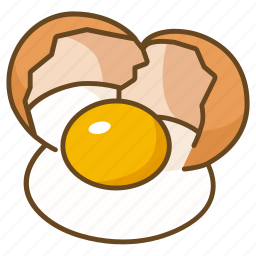 bakery, cooking, cracked, egg, ingredient icon