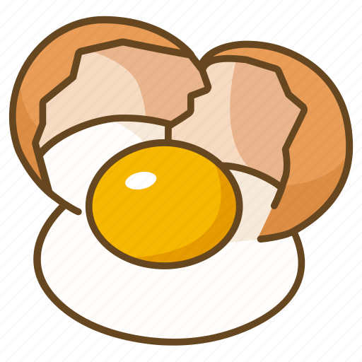 Bakery Cooking Cracked Egg Ingredient Icon