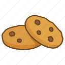 bakery, biscuit, chip, choco, chocolate, cookie icon