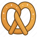 bakery, biscuit, cookie, pretzel, salt icon