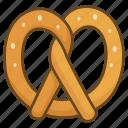 bakery, biscuit, cookie, pretzel, salt icon