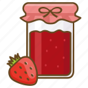 conserve, jam, jar, preserve, spread, strawberry icon