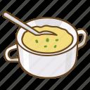 corn, cup, mug, potato, pumpkin, soup