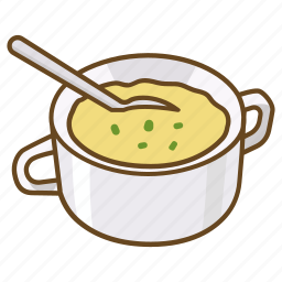 corn, cup, mug, potato, pumpkin, soup icon
