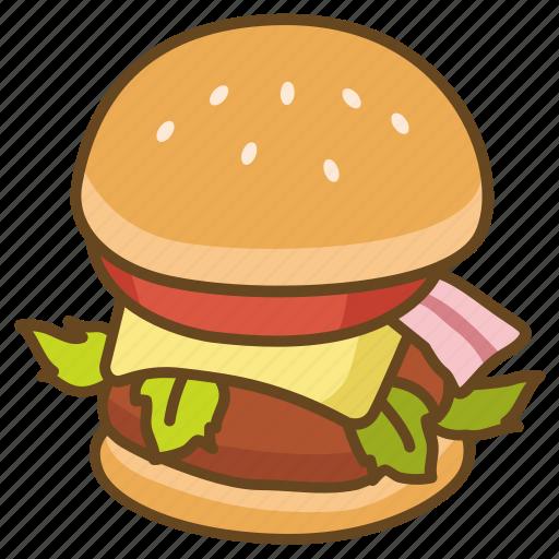 bun, burger, cheeseburger, gourmet, hamburger, lunch icon