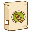 bag, bakery, baking, flour, raising, self, wheat icon