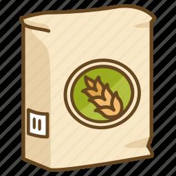 bag, bakery, baking, flour, raising, self, wheat icon