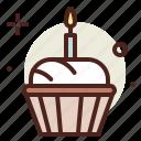 birthday, cake, muffin, sugar, sweet icon