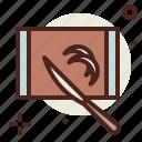 board, cake, cutting, sugar, sweet icon
