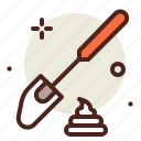 cake, spatula, sugar, sweet icon
