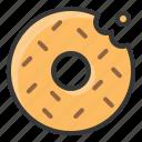 baker, bakery, bread, donut, doughnut, food, sweets icon