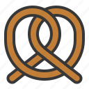 baker, bakery, bread, food, pretzel, sweets icon