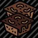 bakery, brownie, cake, dessert, food, restaurant, sweet icon