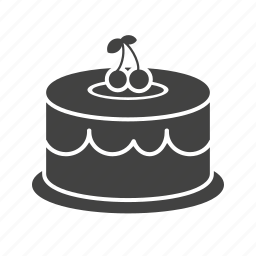 birthday, cake, chocolate, cream, dessert, food, party icon