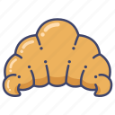 baking, bread, croissant icon