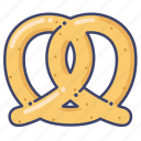 bread, food, pretzel icon