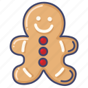 cookie, gingerbread, christmas
