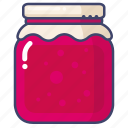 berries, jam, jar icon