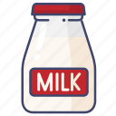 milk, bottle, drink