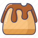 cake, chocolate, pudding icon