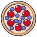 berry, strawberry, tart icon
