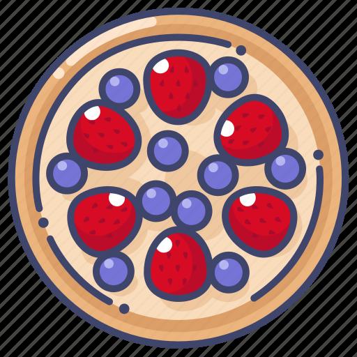 berry, strawberry, tart icon