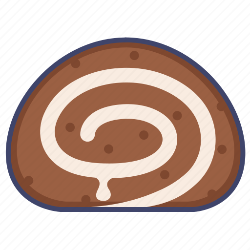 dessert, roll, swiss icon