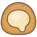 cake, lava, puff icon
