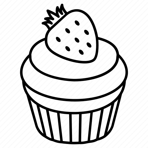 bakery, cake, confectionary, cup, cupcake, dessert, stawberry icon